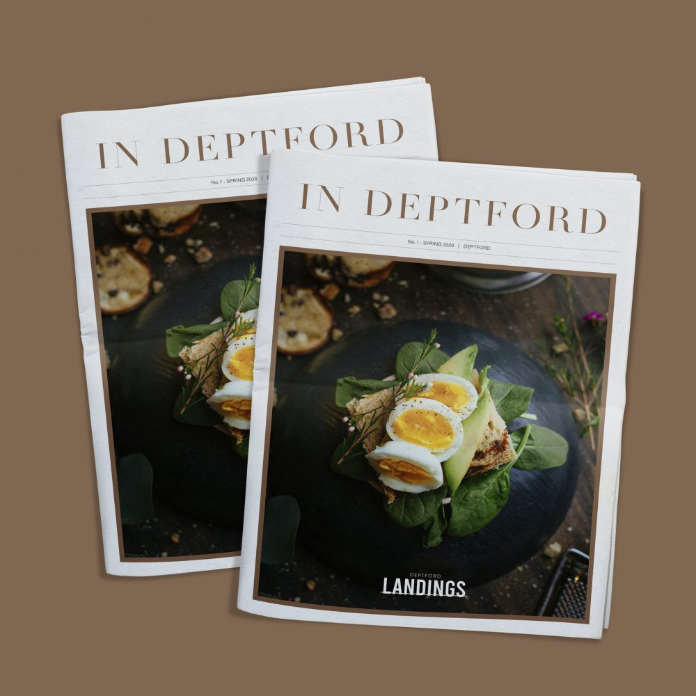 Deptford Landings In Deptford Newsletter Cover Design