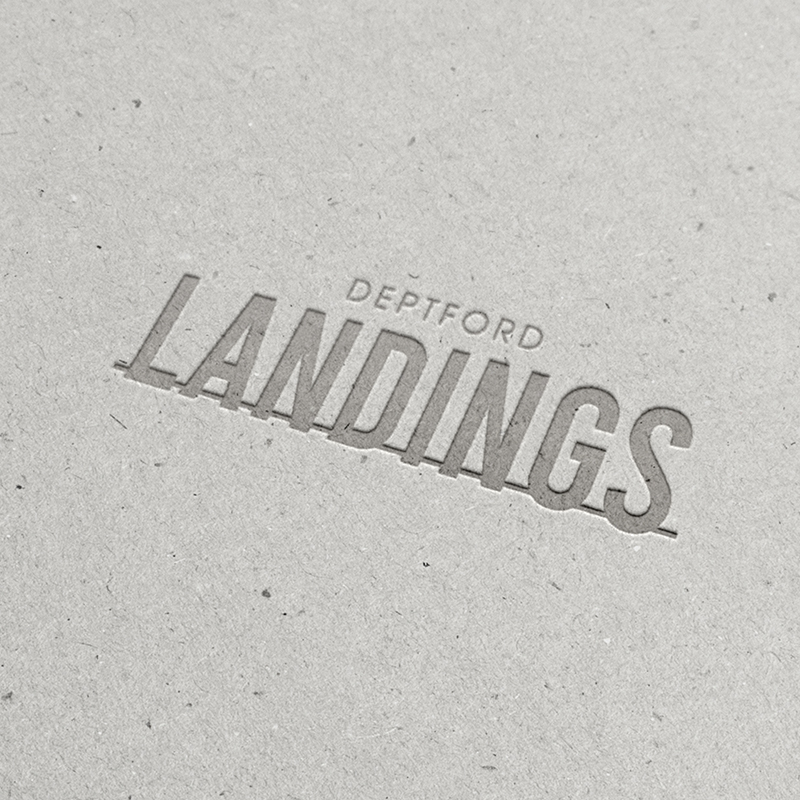 Deptford Landings Logo Mockup Grey