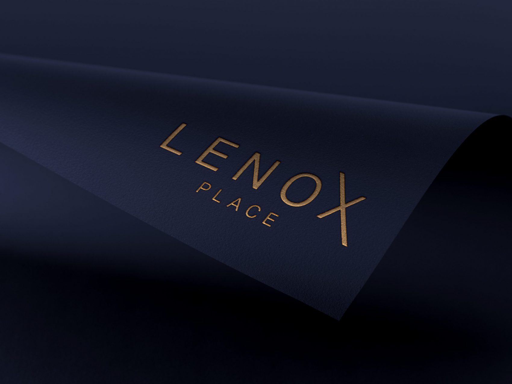 Lenox Place Logo On Blue