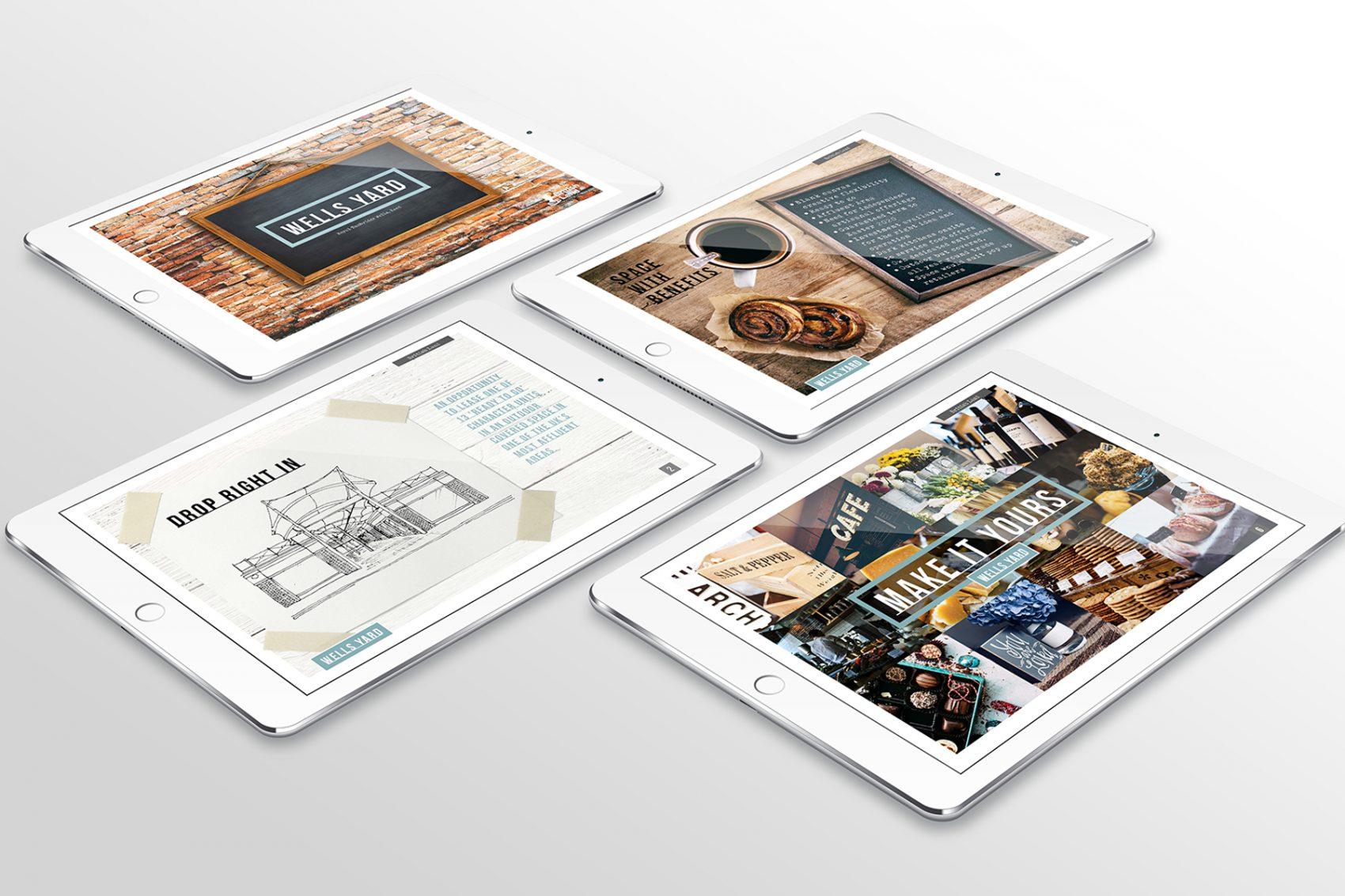 Royal Victoria Place brochure on iPad