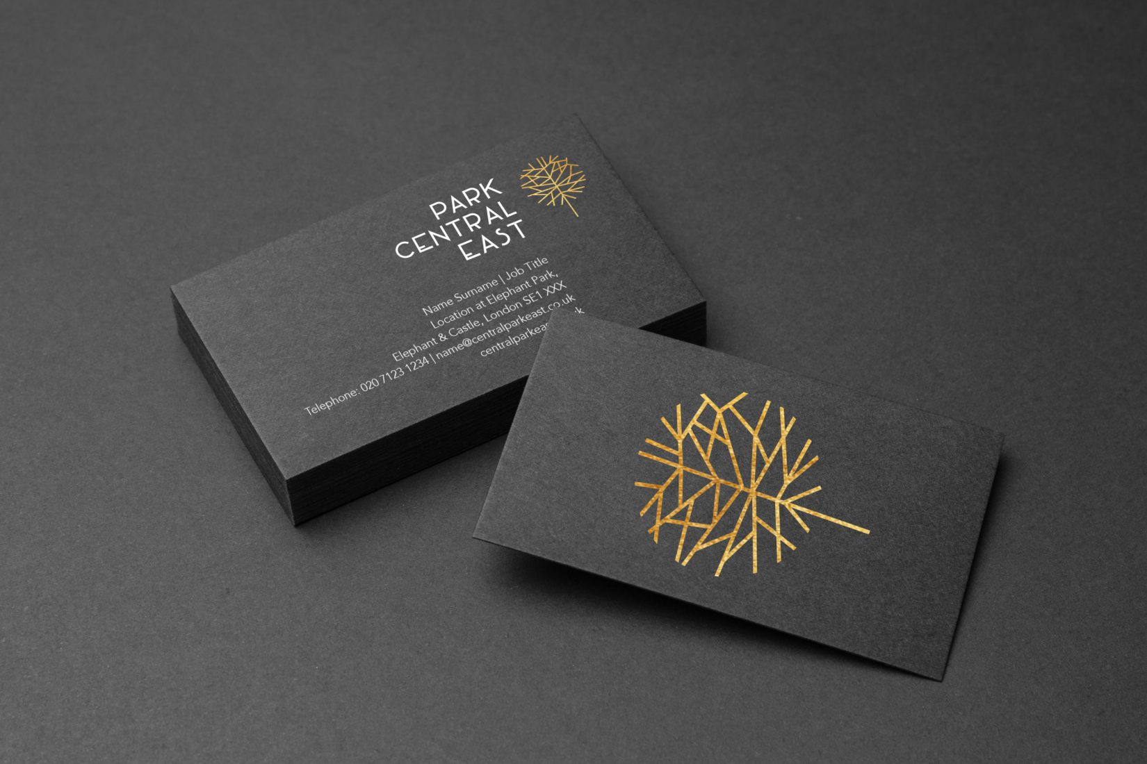 Elephant Park Business Cards Design Grey