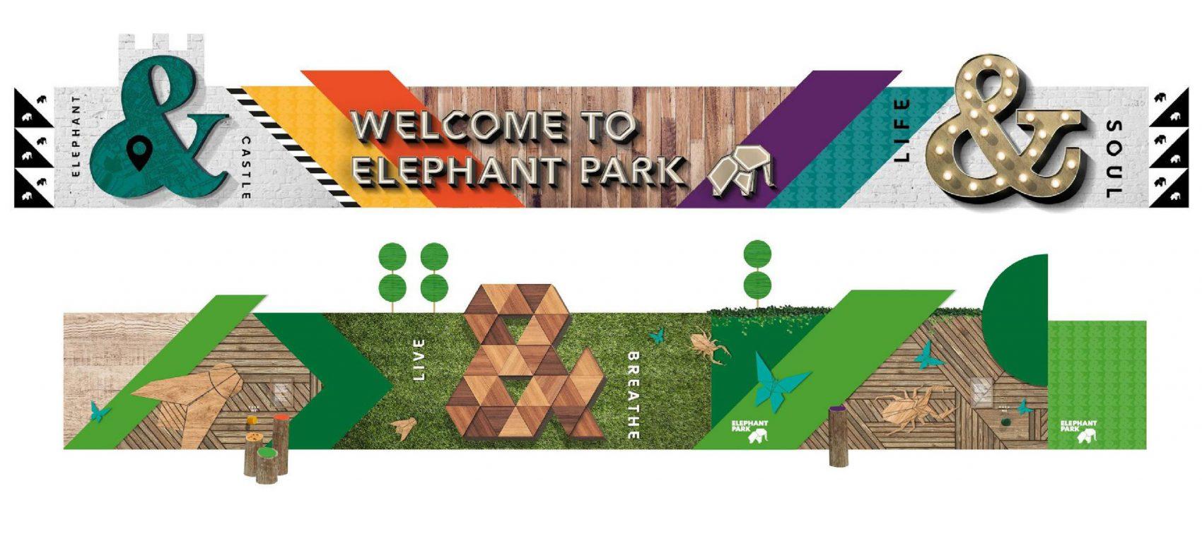Elephant Park Hoarding Design