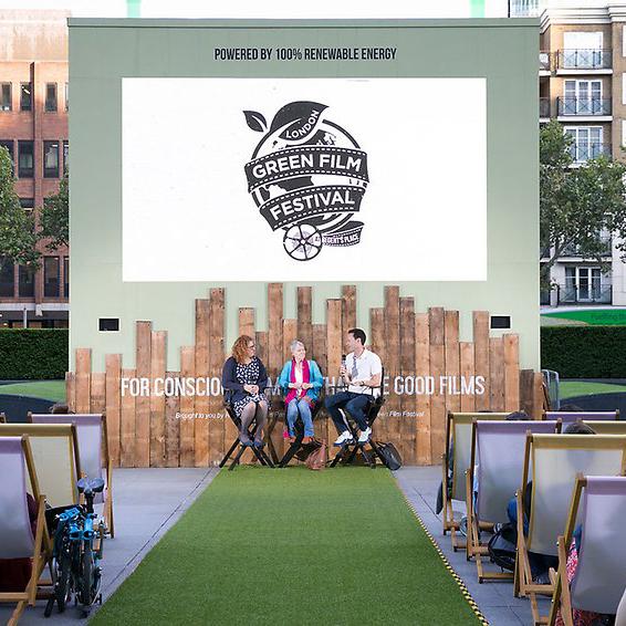 Regent's Place London Green Film Festival Screen Design